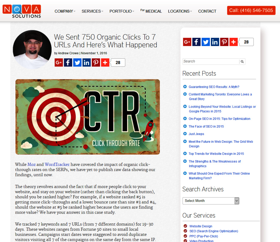 Increasing CTR helps with SEO - SerpClix case study