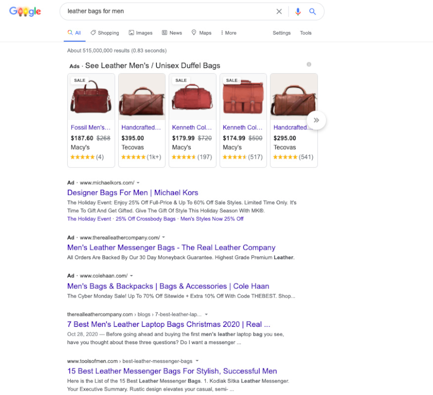 SEARCH ENGINE RESULT PAGES (SERPs)